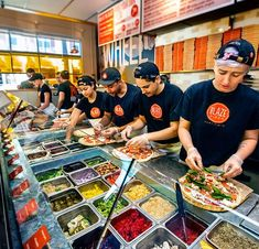 Pizza Fires Up To Perfection Have you dined at Blaze Pizza yet? They operate in 11 states. See if there is a blaze pizza near you!Have you dined at Blaze Pizza yet? They operate in 11 states. See if there is a blaze pizza near you! Pizza Restaurant, Pizzeria, Fast Food Restaurant, Las Vegas Restaurants, Casual Restaurants, Food Truck, Pizza Franchise, Pizza Chains, Food For Less