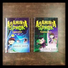Don't you love these funky book covers from the Araminta Spook series?