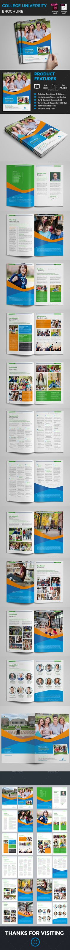 Multipurpose Portfolio - 36 Pages INDD   IDML   PSD - university brochure template