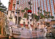 Top 20 things to do in Las Vegas: A ship at the Treasure Island hotel