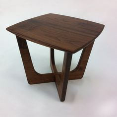 Pearsall Inspired 22x22 Square Mid Century Modern Coffee Cocktail Table - Solid Walnut Cocktail Table - Atomic Era Adrian Pearsall Inspired