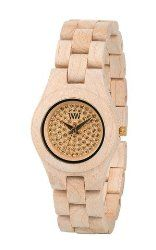 WeWOOD Ladies' Moon Crystal Beige Analog Wood Watch – Beige Bracelet – Beige Dial – WMCRYBEIGE
