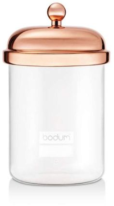 Bodum Classic Storage Jar - Copper - Size L Glass Storage Jars, Food Storage Containers, Jar Storage, Glass Jars, Kitchen Storage, Rose Gold Kitchen, Copper Kitchen, Kitchen Dining, Kitchen Decor