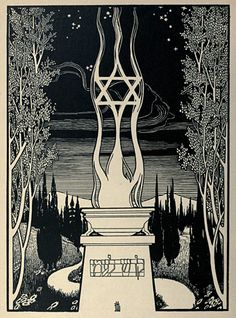 hp lovecraft landscapes | Ephraim Moses Lilien's Lieder des Ghetto