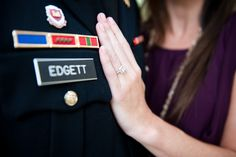 Military Engagement; picture with your future last name