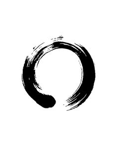 A popular expression in Zen painting, enso is a Japanese word signifying a circle. While the word has no single, fixed meaning, the expressive, brush ink circle symbolizes a moment when the mind is free enough to simply let the body create. Pintura Zen, Element Tattoo, Trash Polka, Chakra Symbole, Kreis Tattoo, Zen Symbol, Change Symbol, Strength Symbol, Zen Painting