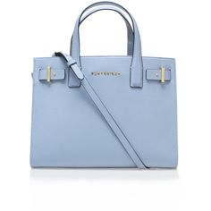 Saffiano London Tote Kurt Geiger London Blue ($320) ❤ liked on Polyvore featuring bags, handbags, tote bags, blue, bolsas, accessories, blue tote, blue leather handbag, leather man bag and tote handbags