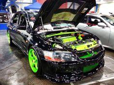 Wow loving the colours too Gta Cars, Mitsubishi Motors, Mitsubishi Lancer Evolution, Drifting Cars, Import Cars, Amazing Cars, Awesome, Car Engine, Performance Cars