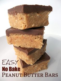 No Bake Peanut Butter Bars. Fast, Easy and Delicious! tedsmom No Bake Peanut Butter Bars. Fast, Easy and Delicious! No Bake Peanut Butter Bars. Fast, Easy and Delicious! No Bake Desserts, Easy Desserts, Delicious Desserts, Dessert Recipes, Yummy Food, Dessert Healthy, Baking Recipes, Cake Recipes, Quick Dessert