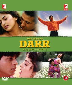 """~Bollywood hit movie """"Darr"""" (Fear) starred Juhi chawla, Sunny Deol, and Shahrukh khan Bollywood Action Movies, Bollywood Movies Online, Hindi Movies Online, Srk Movies, Movies To Watch Hindi, Latest Video Songs, Latest Hollywood Movies, Hits Movie, Full Movies Download"""