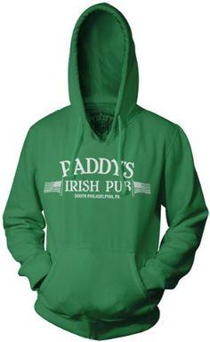 It's Always Sunny in Philadelphia Paddy's Irish Pub Green Hoodie Sweatshirt Small. From #Ripple Junction. Price: $49.95