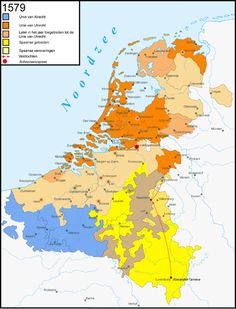 The Hidden Flemings in (New) Netherlands' History Netherlands Map, Kingdom Of The Netherlands, Spanish Netherlands, Utrecht, Early World Maps, Holland Map, Classical Antiquity, Historical Maps, Old Maps