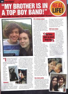 awwwww gemma styles' article in a magazine about harry!
