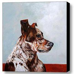 Herding Dog Portrait  Dog Canvas Print by EnzieShahmiriDesigns