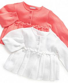 First Impressions Sweaters, Baby Girls Bow Cardigan - Kids Baby Girl (0-24 months) - Macy's