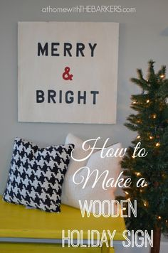 DIY Wooden Holiday Sign - At Home With The Barkers