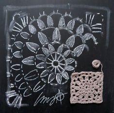 omⒶ KOPPA: KUVAOHJE - virkattu kukkamandalaruutu