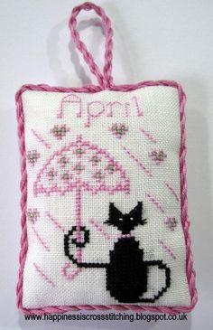 (10) Nom: «Broderie: Avril Mini Cat Cross Stitch