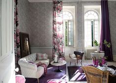 From Designers Guild AW12 Collection, Cassandra in orchid softens any setting