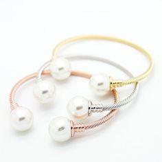 Pearl bangle bracelet – Imsmistyle.