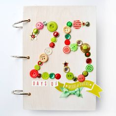 """""""Aaaaand here's last year's #decemberdaily! Apparently I really like making numbers out of holiday embellishments... Guilty as charged! Take a look inside…"""""""