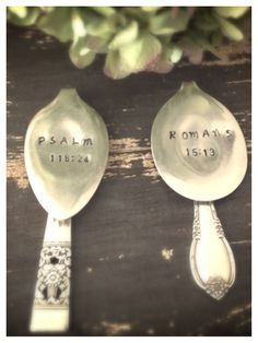 Hand stamped bookmark with scripture by WillowgalJewelry on Etsy, $12.00