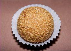 Sesame Seed Balls.  http://chinesefood.about.com/od/desserts/r/sesameseedballs.htm