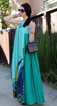 that dress... Voilà!: Mint Maxi Dress --McCall's 6555.