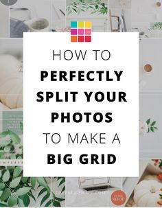 This is how to split Instagram grid in multiple photos that are still connected with each other. Beautiful Instagram feed design!