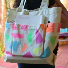 DIY Neon Tote Bag