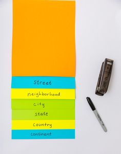 how to make a step book to help your kids visualize where they live