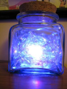 Legend Of Zelda Fairy Jar. YOU could get a plastic jar or something, cut a hole in the bottom, put a lamp with some blue crinkly tissue or something and it could be a lamp!!!