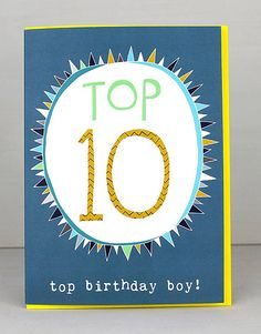 NEW 10th Birthday Cards For Boys by Molly Mae. I love this new range. You can also find the girls age range at Card Crush.