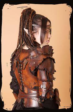 Wood Elven Armor woman by Lagueuse.deviantart.com on @deviantART