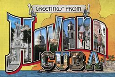 Greetings from Havana Cuba Large Letter Postcard Signed Larry Fulton Ltd Ed 100   eBay