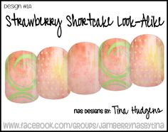 Jamberry NAS Design by Tina Hudgens, Design #1A Strawberry Look-Alike