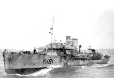 Canadian corvette HMCS Sackville pictured while on convoy escort station… Royal Canadian Navy, Royal Navy, Navy Day, Naval History, Floating In Water, Navy Ships, Submarines, Aircraft Carrier, Model Ships