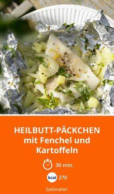 Heilbutt-Päckchen - mit Fenchel und Kartoffeln - smarter - Kalorien: 270 Kcal - Zeit: 30 Min. | eatsmarter.de