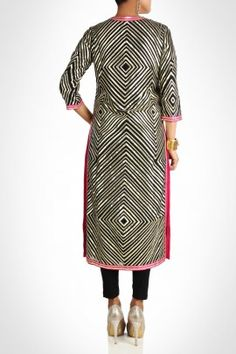 Beautiful black kurta with gota work