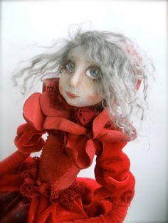 Cloth Art Doll  Blossom OOAK  Handmade   art doll   soft by JRlele, $160.00