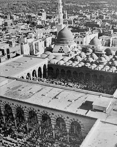 Oldest photo of Al Masjid an Nabawi Islamic Images, Islamic Pictures, Islamic Art, Old Pictures, Old Photos, Islamic Sites, Ancient Mexican Civilizations, Al Masjid An Nabawi, Naher Osten