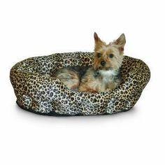 "K&H Self-Warming Nuzzle Nest 19"" Brown Leopard"