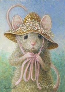 """Art by Lynn Bonnette: """"New Straw Hat"""""""