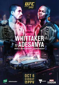 X-17 UFC 225 Whittaker VS Romero 2 MMA Event Fabric Poster 18 24x36 32x48 Art