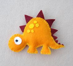 Dinosaur Felt Mobile babys mobile childrens mobile by FlossyTots by charmaine Baby Crafts, Felt Crafts, Fabric Crafts, Sewing Crafts, Diy And Crafts, Sewing Projects, Crafts For Kids, Felt Monster, Felt Decorations