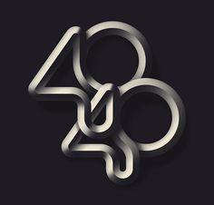 FORTUNE 40 Under 40 lettering for Fortune magazine by Jordan Metcalf, Art Director: Josue Evilla Typography Letters, Graphic Design Typography, Lettering Design, Hand Lettering, Grid Design, Type Design, Logo Design, Design Art, Art Actuel