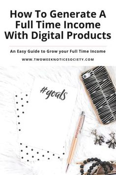 How To Generate A Full Time Income With Digital Products. Ready to start making money online? Here are the reasons why you need to sell digital products in 2019! Plus check out these awesome ideas for what digital products to sell on your website. These digital product ideas all come with examples to show you exactly what you need to do to create your own successful product! #digitalproducts #makemoneyonline #ebook #onlinecourse #onlinebusiness #bloggingtips