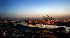 Los Angeles Harbor and Vincent Thomas Bridge. San Pedro, CA: