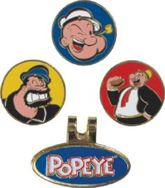 Winning edge #popeye hat or cap clip and #magnetic golf ball #marker set,  View more on the LINK: http://www.zeppy.io/product/gb/2/361701838807/