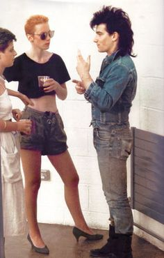 U2's Bono and Annie Lenox of the Eurythmics, circa 1980's